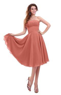 ColsBM Lena Crabapple Plain Strapless Zip up Knee Length Pleated Prom Dresses