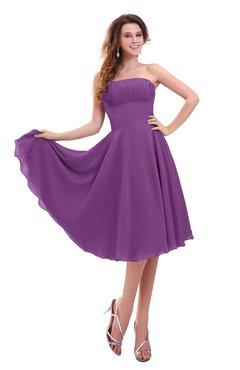 ColsBM Lena Dahlia Plain Strapless Zip up Knee Length Pleated Prom Dresses