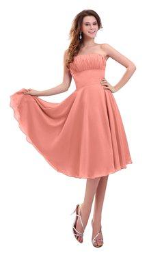 ColsBM Lena Desert Flower Plain Strapless Zip up Knee Length Pleated Prom Dresses