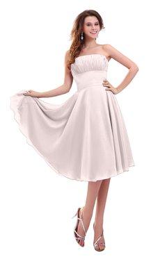 ColsBM Lena Light Pink Plain Strapless Zip up Knee Length Pleated Prom Dresses