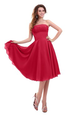 ColsBM Lena Lollipop Plain Strapless Zip up Knee Length Pleated Prom Dresses