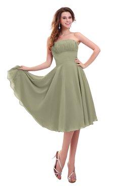 ColsBM Lena Sponge Plain Strapless Zip up Knee Length Pleated Prom Dresses