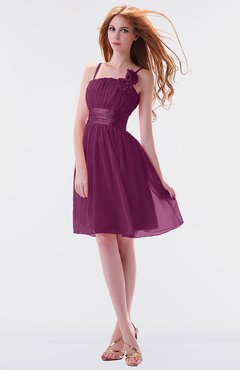 a3cc38f3e6c ColsBM Jessa Raspberry Simple A-line Spaghetti Chiffon Beaded Bridesmaid  Dresses