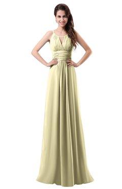 ColsBM Daisy Anise Flower Simple Column Scoop Chiffon Ruching Bridesmaid Dresses