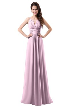 ColsBM Daisy Baby Pink Simple Column Scoop Chiffon Ruching Bridesmaid Dresses
