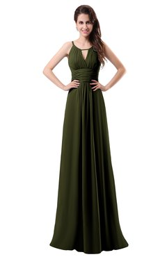 ColsBM Daisy Beech Simple Column Scoop Chiffon Ruching Bridesmaid Dresses
