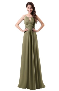 ColsBM Daisy Boa Simple Column Scoop Chiffon Ruching Bridesmaid Dresses