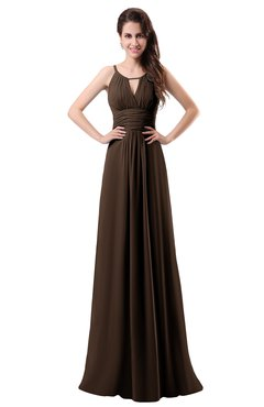 ColsBM Daisy Copper Simple Column Scoop Chiffon Ruching Bridesmaid Dresses