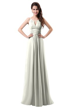 ColsBM Daisy Cream Simple Column Scoop Chiffon Ruching Bridesmaid Dresses