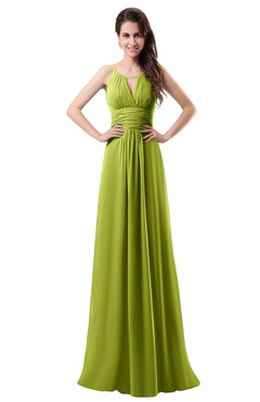 ColsBM Daisy Green Oasis Simple Column Scoop Chiffon Ruching Bridesmaid Dresses