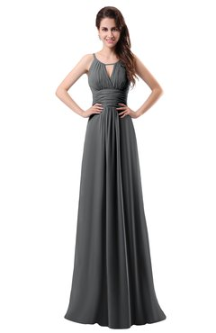 e143626a691d ColsBM Daisy Grey Simple Column Scoop Chiffon Ruching Bridesmaid Dresses