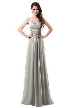 ColsBM Daisy Hushed Violet Simple Column Scoop Chiffon Ruching Bridesmaid Dresses