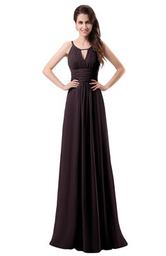 ColsBM Daisy Italian Plum Simple Column Scoop Chiffon Ruching Bridesmaid Dresses