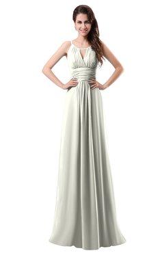 ColsBM Daisy Ivory Simple Column Scoop Chiffon Ruching Bridesmaid Dresses