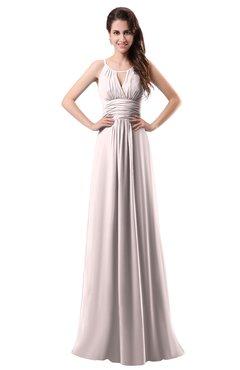 ColsBM Daisy Light Pink Simple Column Scoop Chiffon Ruching Bridesmaid Dresses