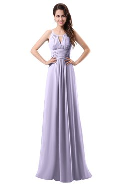 ColsBM Daisy Light Purple Simple Column Scoop Chiffon Ruching Bridesmaid Dresses
