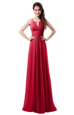 ColsBM Daisy Lollipop Simple Column Scoop Chiffon Ruching Bridesmaid Dresses