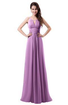 ColsBM Daisy Orchid Simple Column Scoop Chiffon Ruching Bridesmaid Dresses