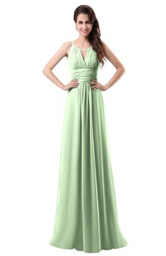 ColsBM Daisy Pale Green Simple Column Scoop Chiffon Ruching Bridesmaid Dresses