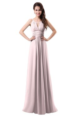 ColsBM Daisy Petal Pink Simple Column Scoop Chiffon Ruching Bridesmaid Dresses