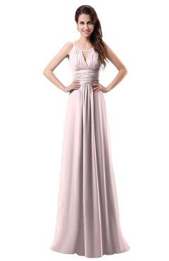 ColsBM Daisy Petal Pink Simple Column Scoop Chiffon Ruching Bridesmaid Dresses