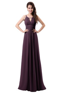 ColsBM Daisy Plum Simple Column Scoop Chiffon Ruching Bridesmaid Dresses