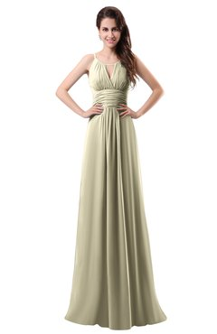 ColsBM Daisy Putty Simple Column Scoop Chiffon Ruching Bridesmaid Dresses