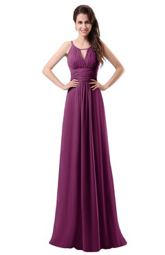 a99d904d403 ColsBM Daisy Raspberry Simple Column Scoop Chiffon Ruching Bridesmaid  Dresses