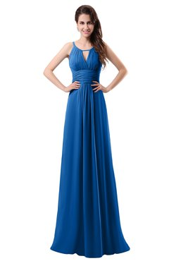 ColsBM Daisy Royal Blue Simple Column Scoop Chiffon Ruching Bridesmaid Dresses