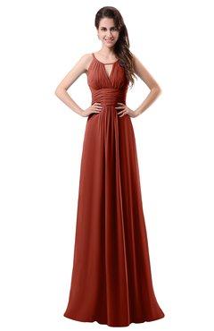 687cc2b6987a8 ColsBM Daisy Rust Simple Column Scoop Chiffon Ruching Bridesmaid Dresses