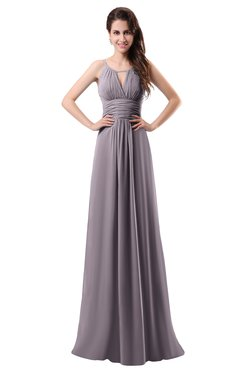 ColsBM Daisy Sea Fog Simple Column Scoop Chiffon Ruching Bridesmaid Dresses