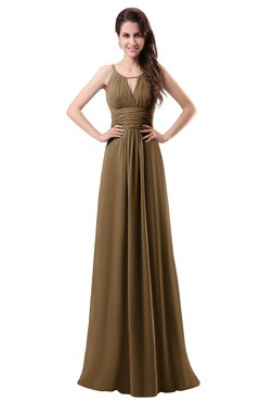 ColsBM Daisy Truffle Simple Column Scoop Chiffon Ruching Bridesmaid Dresses