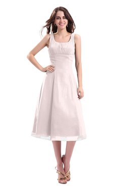 ColsBM Annabel Angel Wing Simple A-line Chiffon Tea Length Pleated Cocktail Dresses