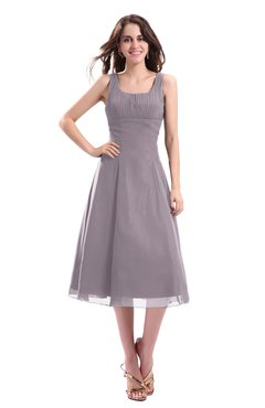 ColsBM Annabel Cameo Simple A-line Chiffon Tea Length Pleated Cocktail Dresses