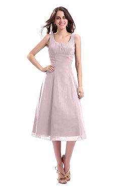 ColsBM Annabel Pale Lilac Simple A-line Chiffon Tea Length Pleated Cocktail Dresses