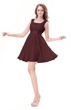 ColsBM Genesis Burgundy Elegant Scoop Sleeveless Zipper Chiffon Bridesmaid Dresses
