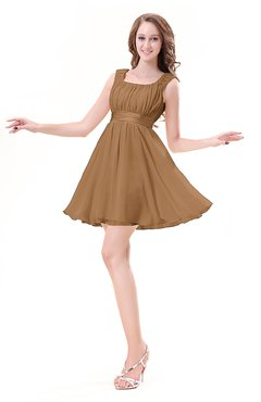 ColsBM Genesis Light Brown Elegant Scoop Sleeveless Zipper Chiffon Bridesmaid Dresses