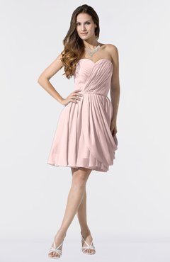1e556c2dee3d ColsBM Mikayla Pastel Pink Elegant Column Sweetheart Sleeveless Zipper  Chiffon Little Black Dresses