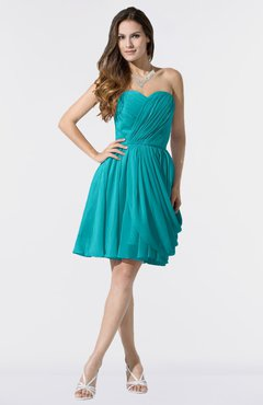 e4416268cf1 ColsBM Mikayla Teal Elegant Column Sweetheart Sleeveless Zipper Chiffon  Little Black Dresses
