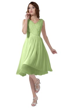 ColsBM Alexis Butterfly Simple A-line V-neck Zipper Knee Length Ruching Party Dresses