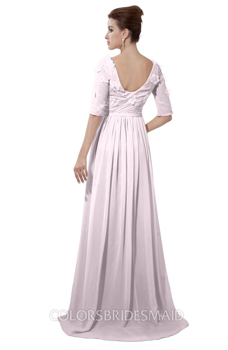 08a78ae4e8 ColsBM Emily Blush Casual A-line Sabrina Elbow Length Sleeve Backless Beaded  Bridesmaid Dresses