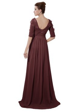 ColsBM Emily Burgundy Casual A-line Sabrina Elbow Length Sleeve Backless Beaded Bridesmaid Dresses