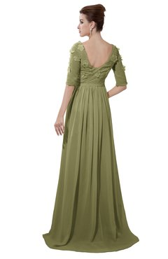 ColsBM Emily Cedar Casual A-line Sabrina Elbow Length Sleeve Backless Beaded Bridesmaid Dresses