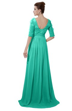 ColsBM Emily Ceramic Casual A-line Sabrina Elbow Length Sleeve Backless Beaded Bridesmaid Dresses