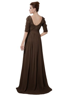 ColsBM Emily Copper Casual A-line Sabrina Elbow Length Sleeve Backless Beaded Bridesmaid Dresses
