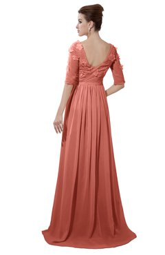ColsBM Emily Crabapple Casual A-line Sabrina Elbow Length Sleeve Backless Beaded Bridesmaid Dresses