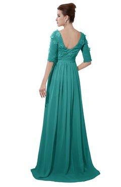 26a7d83b6c ColsBM Emily Emerald Green Casual A-line Sabrina Elbow Length Sleeve  Backless Beaded Bridesmaid Dresses