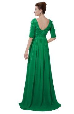 ac7371b4ed64e ColsBM Emily Green Casual A-line Sabrina Elbow Length Sleeve Backless  Beaded Bridesmaid Dresses