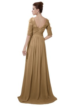 65713b669939 ColsBM Emily Indian Tan Casual A-line Sabrina Elbow Length Sleeve Backless  Beaded Bridesmaid Dresses