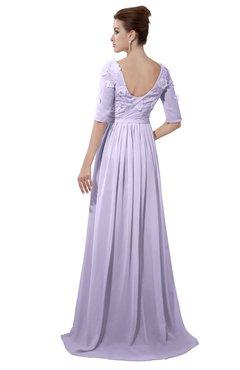 ColsBM Emily Pastel Lilac Casual A-line Sabrina Elbow Length Sleeve Backless Beaded Bridesmaid Dresses